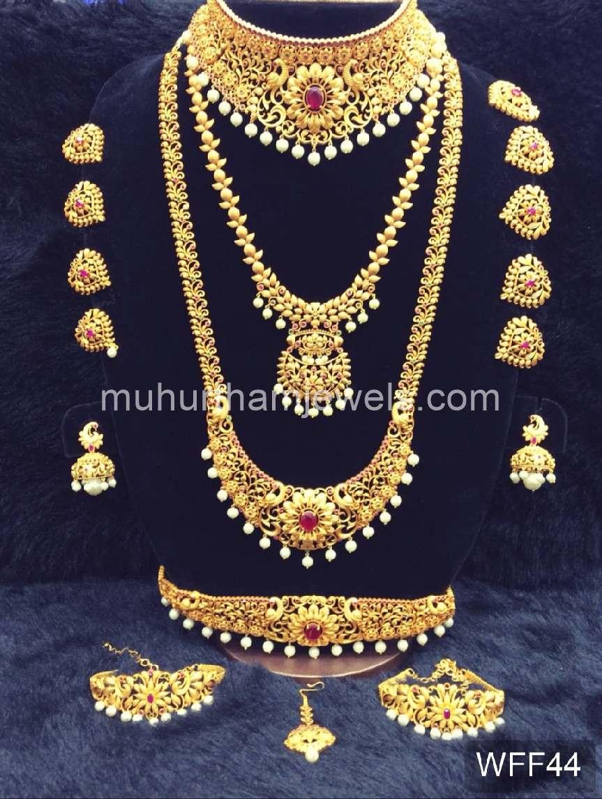 Wedding Jewellery Sets For Rent Wff44 Muhurtham Jewels
