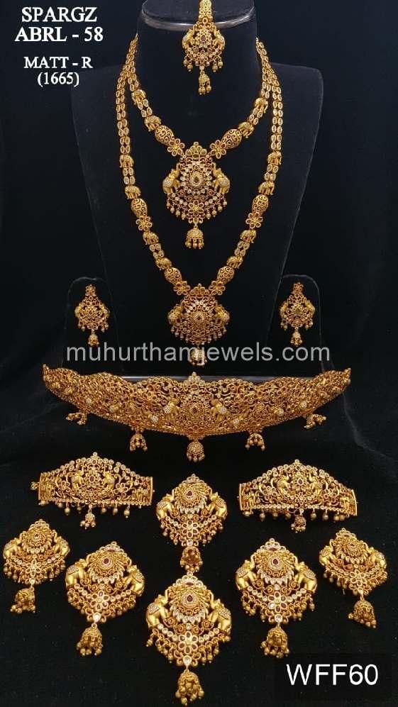 8cd7cc8df9b Wedding Jewellery Sets for Rent- WFF60 – Muhurtham Jewels