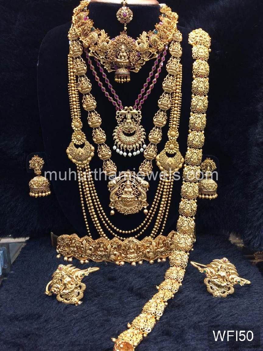 Wedding Jewellery Sets For Rent Wfi50 Muhurtham Jewels