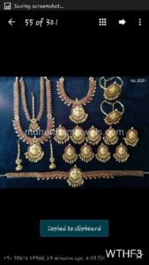Wedding Jewellery Sets for Rent WTHF3